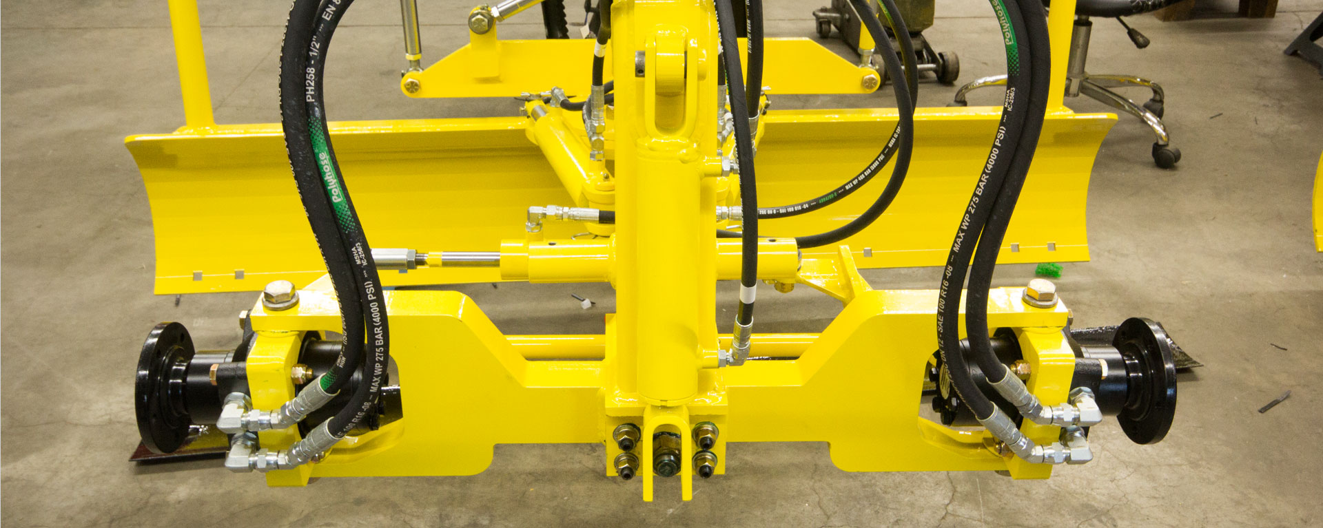 Front forks of the Laser Grader