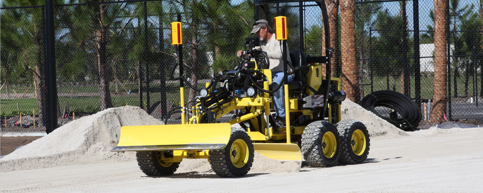 Laser-Grader has a number of applications in construction