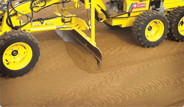 Laser Grader is accurate over large areas